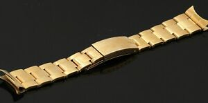 Rolex Oyster heavy 18K gold watch band/bracelet with 19mm ends