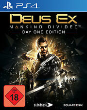 Deus Ex Mankind Divided Day One FSK 18 PS4 Neu