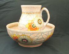 Crown Ducal Charlotte Rhead Rhodian pattern 3272 water jug and bowl set