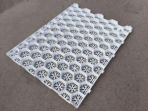 WHITE Gravel Grid - Plastic Gravel Reinforcement - Gravel Mat - Gravel Retention