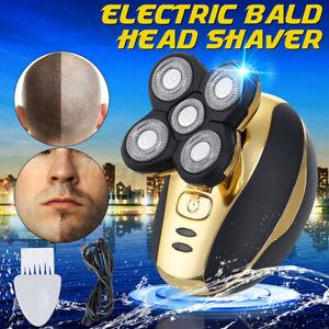 5 Head Electric Shaver Razor Bald Beard Hair Skull Trimmer Beard Remover Men UK