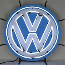 "Volkswagen Vw Round Car Garage Neon Sign 24""x24"""