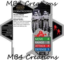 Heroscape Custom Star Wars Stormtroopers Double-Sided Card