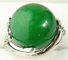 hochzeitsfeier schmuck charme 14mm grüne jade 18 kgp ring