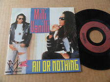 """DISQUE 45T DE MILLI VANILLI  """" ALL OR NOTHING """""""