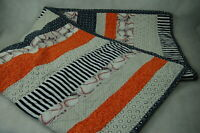 "Handmade Quilted Baseball Theme Blanket Crib Lap Quilt Blanket 56"" x 40"" EUC"