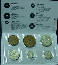 1959 Australian Pre Decimal Coin Set in folder, nice gift!