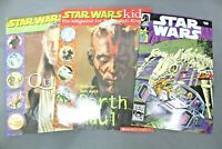Star Wars Scholastic Magazine & Dark Horse Comics Lot Of 3 Fun Reading & Games