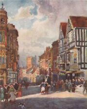 Warwick/' by Frederick Whitehead /'Hayfield Warwickshire 1906 old print