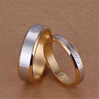 Forever Love Ring Titanium Steel Men Women Promise Couple Wedding Band Rings