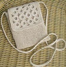 Vintage -  super ancien petit sac à bandoulière au crochet  Impeccable