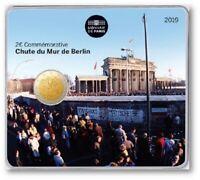 FRANCIA FRANCE 2 € EURO 2019 FALL OF THE BERLIN WALL 1989 / 2019 COINCARD @ RARE