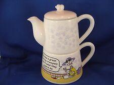 Hallmark Maxine Tea Pot Cup 3 Piece Set Mint Condition all Original Tag attached