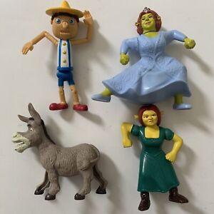 Shrek McDonalds Figures Mix Lot Of 4 Happy Meal Toys 2007 2010 Fiona Donkey