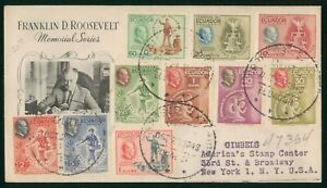 Mayfairstamps Ecuador 1948 Franklin Roosevelt Combo Cover wwp_64325