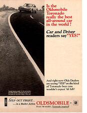 1966 OLDSMOBILE TORONADO ~ ORIGINAL PRINT AD