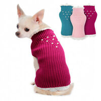 Dog Cat Jumpers Knit Chihuahua Clothes Girl Extra Small Pet Sweaters Cotton Coat