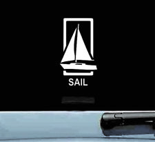 sail sailing boat vinyl decal sticker bumper car truck sea fishermen fish ocean