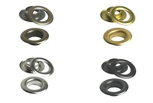 IstaTools Brass Eyelets,10mm,12mm,17mm without Rust,Eyelet,Rivets,Banner,Textile