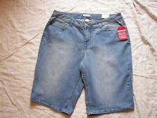 St. John's Bay Denim Shorts - 18W - Secretly Slender Bermuda - New with Tags