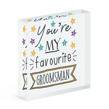 You're My Favourite Groomsman Stars Acrylic Photo Block Frame Funny Wedding