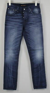 NUDIE Jeans GRIM TIM ORG. BLUE ASH Men W30/L32 100% Organic Wash CO Jeans 0918_
