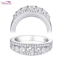 Eternity Ring Wedding Band For Women 925 Sterling Silver 1.1ct Round AAA Cz 5-12