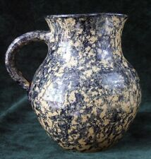 TURTLECREEK POTTERS - PITCHER - CATHY GATEL - 1991 - Blue Sponge Decor