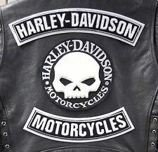 KIT Patch Patches Skull Willie G.  Bikers Harley Davidson Veste XL Gilet Motard