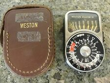 WESTON MASTER IV light meter vintage case model 745 England exposure camera foto