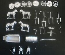 SHQ GV045 1/76 Diecast WWII German HF7 4 Horse Steel Cart and Drivers