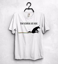 How Rainbows Are Made T Shirt Top Unicorn Funny Gift Dope Color Magic Sweet