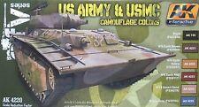 AK-INTERACTIVE ak4220 ww2 esercito americano e USMC Camouflage 6 Set vernice a colori