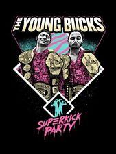 Autographed Young Bucks 18 x 24 Poster, Superkick Belts Elite NJPW ROH IWGP