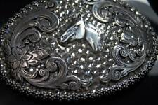 Nocona Western Belt Buckle Womens Horse Rhinestones Silver 37536
