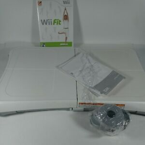 Nintendo Wii  Balance Board And Wii Fit Bundle With Rubber Replacement
