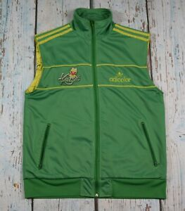 adidas track jacket vest gilet kermit frog green  size XL