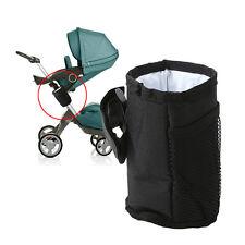 2017 Baby Stroller Safe Console Tray Pram Hanging Black Bottle Cup Holder Bag