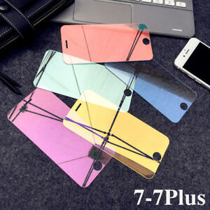 9H Colorful Mirror Full Screen Protector Temper Glass Film For iPhone X/8/7 Plus