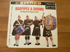 LP RECORD VINYL BAGPIPES & DRUMS 9TH REGIMENT BAGPIPE BANS ADIO FIDELITY