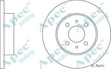 1x OE Quality Replacement Front Axle Apec Solid Brake Disc 4 Stud 257mm - Single