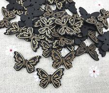 ca.16 x 22mm   K98.2 natur 8 Holz-Knöpfe,Schmetterling
