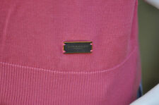 Burberry London Mens Rose Pink V-Neck Sweater Pullover Size Medium