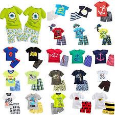 Toddler Kids Boys Cartoon Summer T-shirts Shorts Outfits Clothes Set Tracksuits