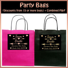 * Personalised TEAM BRIDE PARTY BAG for Hen Night Do Tribe - Gift  19x8x21cm
