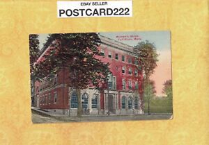 MA Fall River 1918 antique postcard WOMANS UNION BUILDING to Tannersville NY