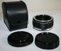 Formula 5 Auto 2X Teleconverter Tele Converter For Olympus OM Lens Mount & Case