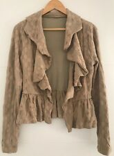 METALICUS TEXTURED JACKET RUFFLED WATERFALL ONE SIZE BEIGE
