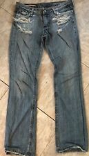 Jean Paul Da Mage Distressed Destroyed holes Light blue Jeans Size 28