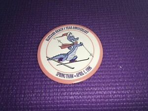 Disney Pin Button - Blizzard Beach - 1 Year Anniversary April-1-1996 Spring Thaw